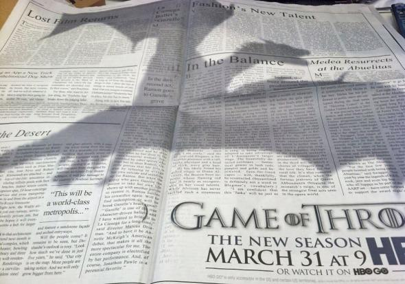 Game of Throne ad