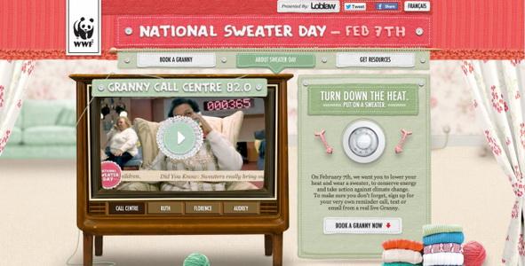 granny call sweater day