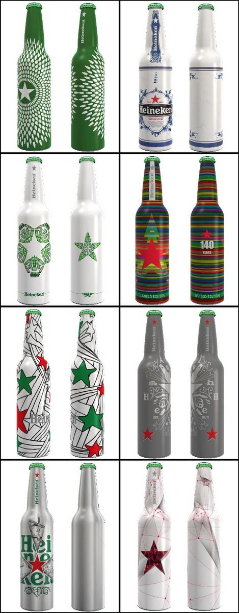 Heineken bottles 2013