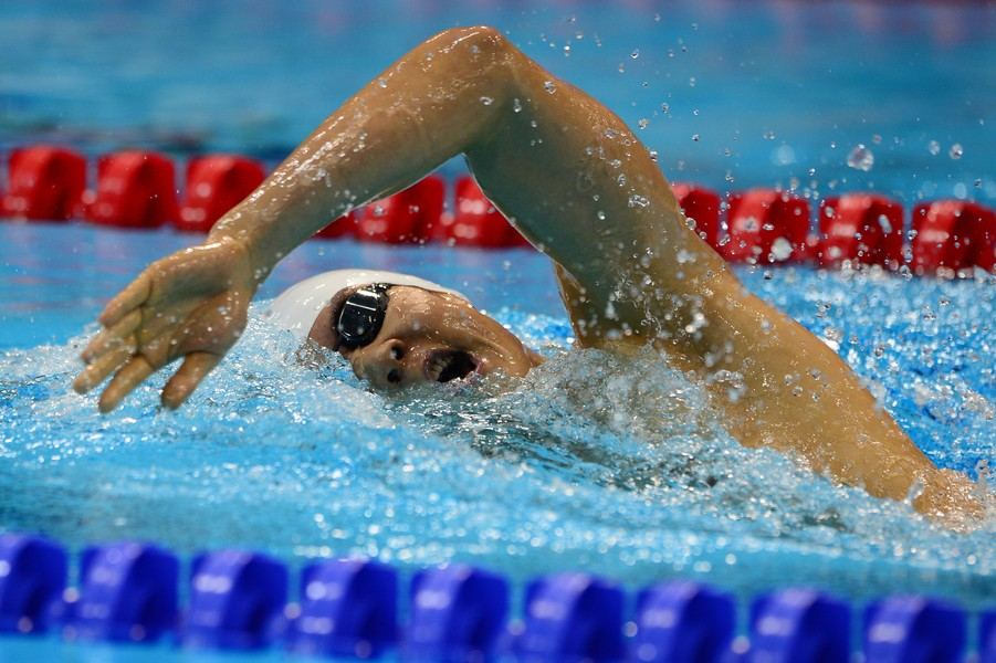South Korea's Park Tae-Hwan competes in