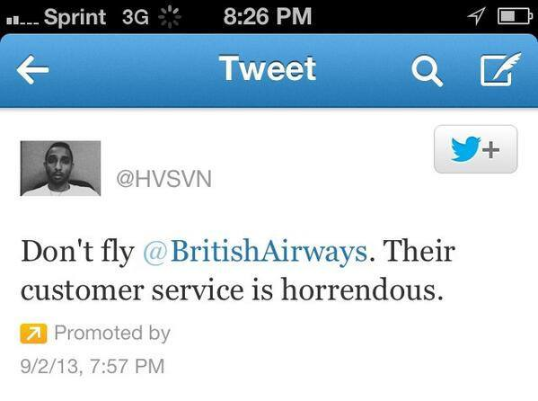 tweet british airway