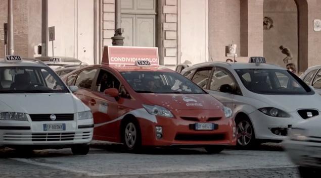 coca Cola christmas taxi 2