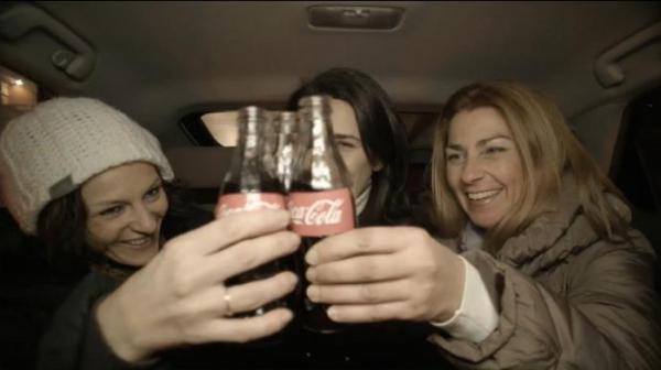 coca Cola christmas taxi