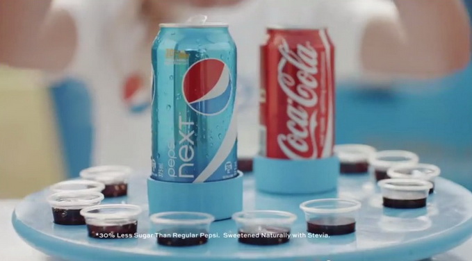 Pepsi Next Coca Cola Blind test