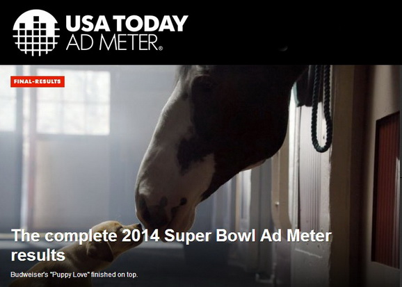 admeter top 10 ads super bowl 2014 photo