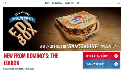Domino's Pizza and the Edible Box April fool day