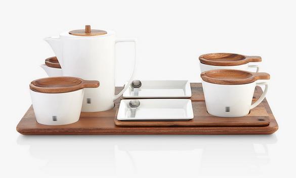 Sansiri Artisan ชุดชากาแฟไม้จามจุรีและพอร์ซเลน (Tea Set)_resize