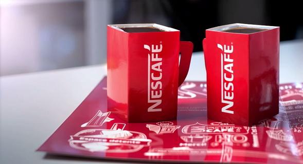 nescafe coffee newspaper mug