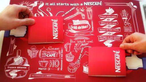 nescafe coffee newspaper