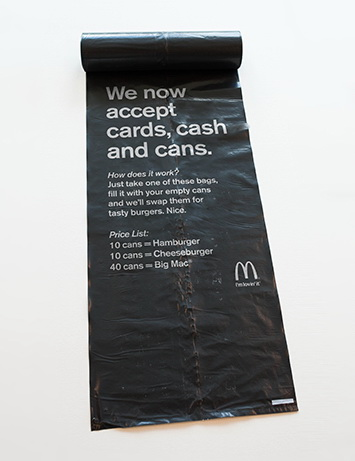 mcdonals billboard cans accept 2