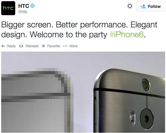 Htc tweet iphone6