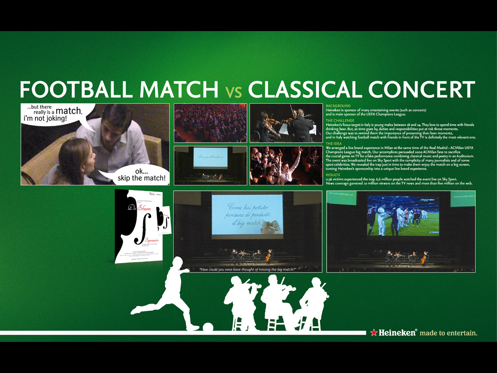 football match vs classic concert