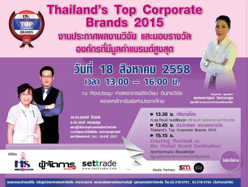 Thailand corporate brand 2015
