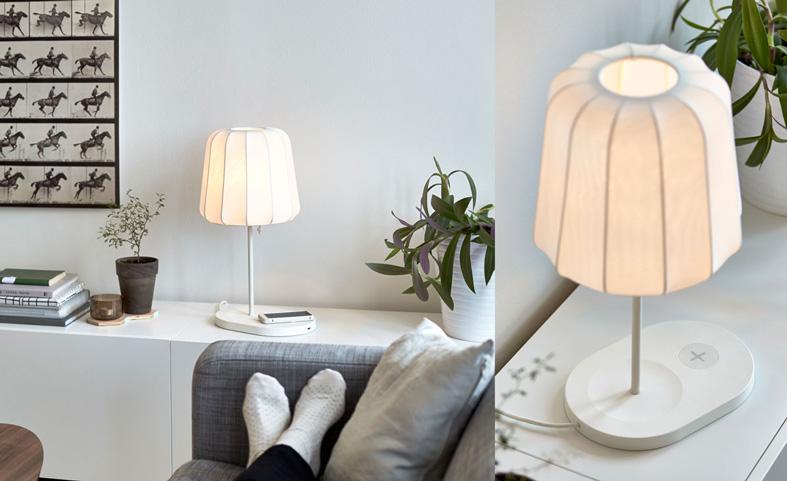 โคมไฟ ที่กลายเป็น Wireless Charging ในหนึ่งเดียว ทำให้เฟอร์นิเจอร์กลายเป็นเครื่อใช้ไฟฟ้า