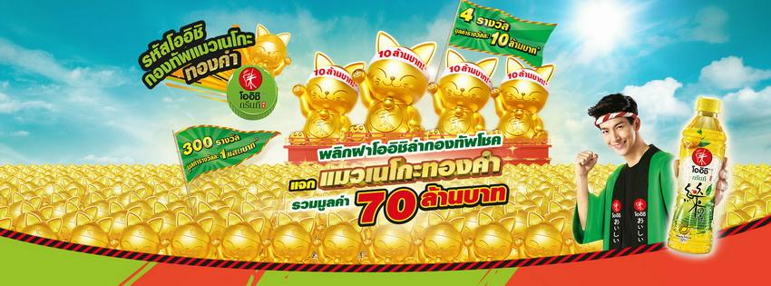 oishi neko gold promotion