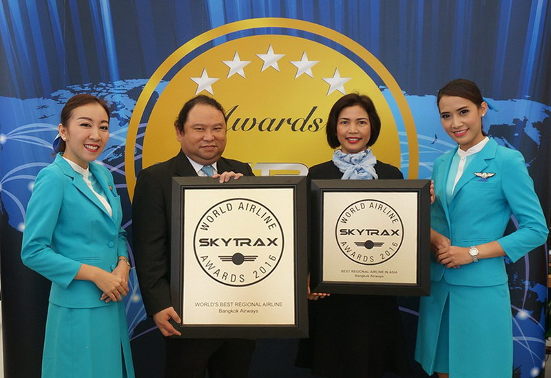 skytrax 2016 bangkok airways best airline