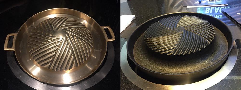 บาร์บีคิว กระทะ black pan
