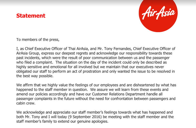 AirAsiaStatement